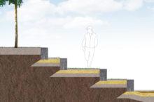 Opbygning af amfi scene / trin og trapper